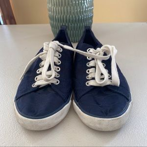 Coach navy women keds
